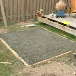 Hot tub gravel base