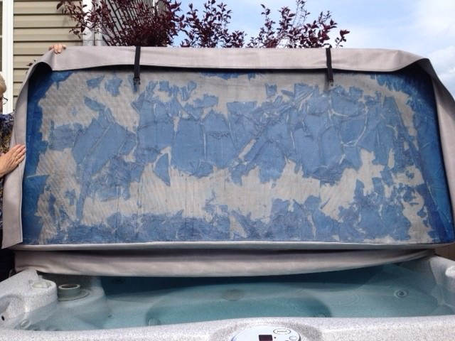 what destroys Hot tub covers
